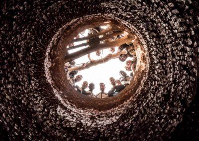 Contre-plongée puits traditionnel