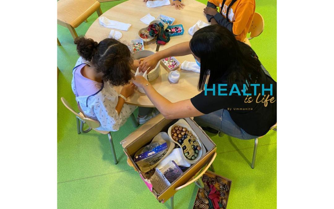 Visite des enfants malades à l'hôpital de Créteil