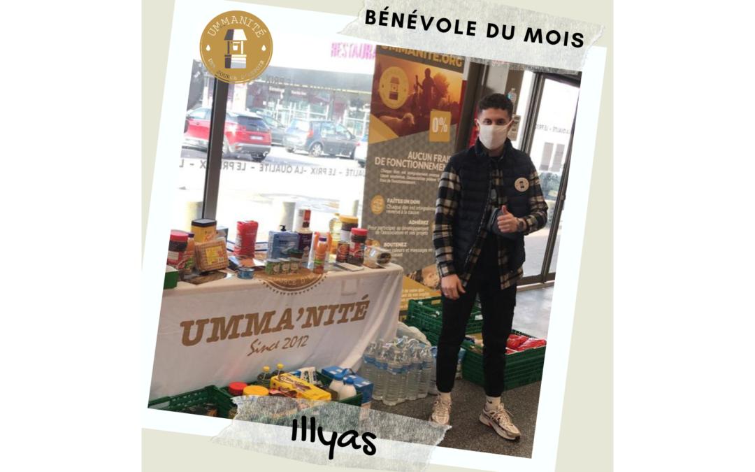 Illyas, notre bénévole du mois