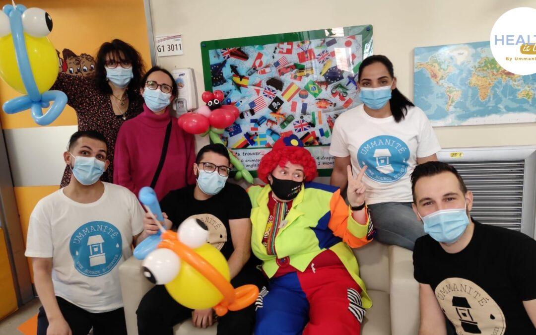Visite aux enfants malades, mars 2021