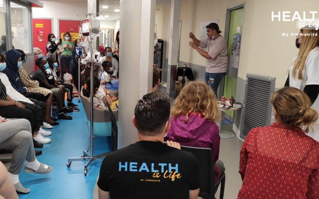 Visite aux enfants hospitalisés, le 12 juillet 2021