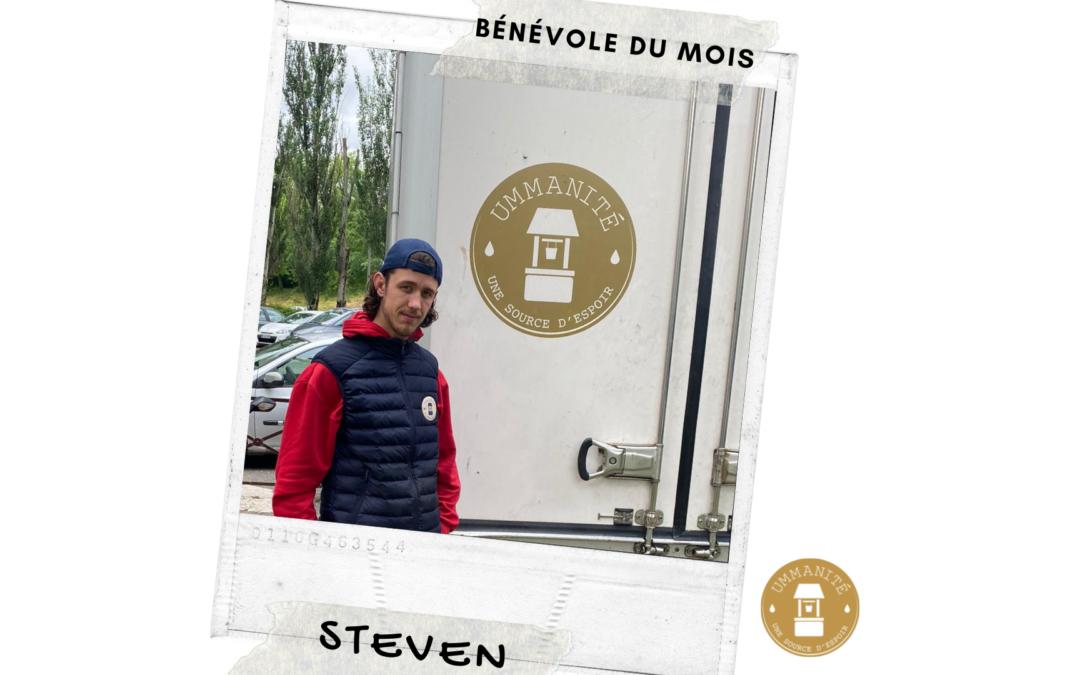 Steven, notre bénévole du mois